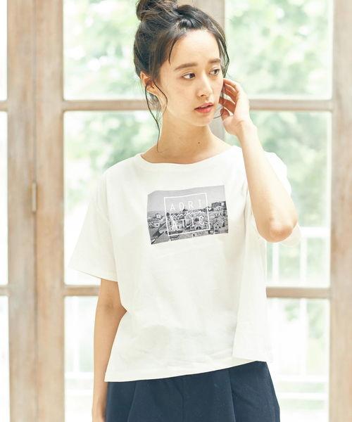 ・フォトプリントワイドTシャツ