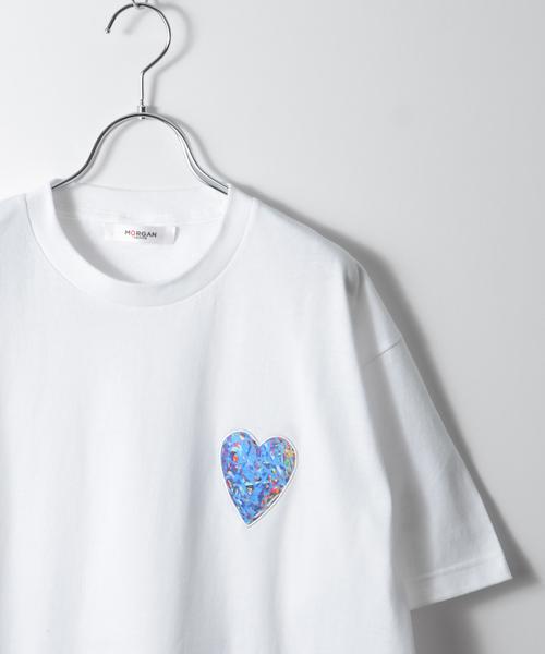 MORGAN HOMME(モルガンオム)の「NISHIMURA HEART T 2018(Tシャツ/カットソー)」 ブルー