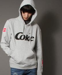 【STAPLE×Coca Cola】Wネーム コカ・コーラ フロントプリントプルオーバーパーカー(パーカー)