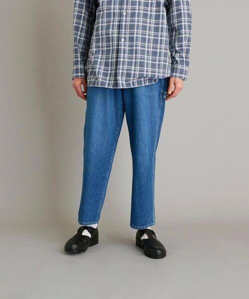 <Steven Alan> 10oz DENIM BAGGY TAPERED PAINTER PANTS/パンツ