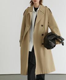 【Fano Studios】【2021SS】 Classic lapel wide trench coat cb-3 FD20W229ベージュ