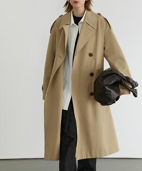 【Fano Studios】【2021SS】 Classic lapel wide trench coat FD20W229