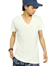 8(eight)(エイト)のVネック 無地 半袖 Tシャツ (Tシャツ/カットソー)
