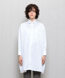 <INDIVIDUALIZED SHIRTS>WIDE REGULAR COLLAR SHIRT WHITE/シャツ