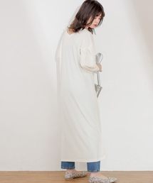 natural couture(ナチュラルクチュール)のスナップボタン付ワッフルワンピース(ワンピース)