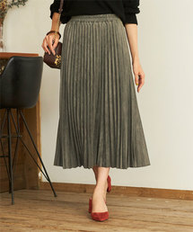 titivate(ティティベイト)のフェイクスエードアコーディオンプリーツスカート(スカート)