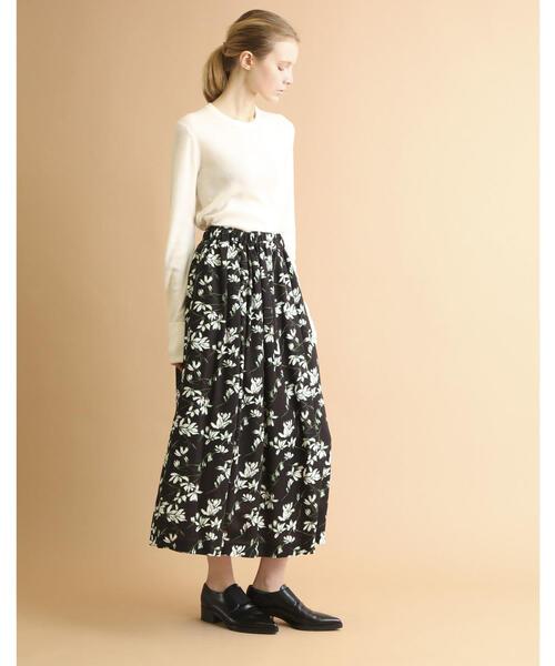 SACRA(サクラ)フラワープリントスカート