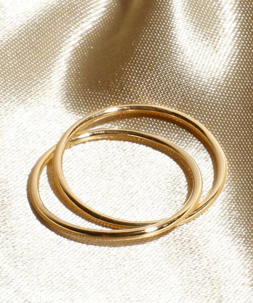 Losau ロサウ / Double line ring ダブルラインリング / lo-r009-gold