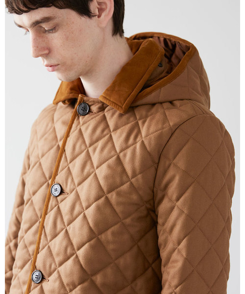 【MENS】DERBY HOOD QUILTED / ダービーフード キルテッド