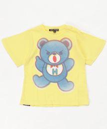 BEAR PRIMARY COLOR オーバーサイズTシャツ【XS/S/M】イエロー