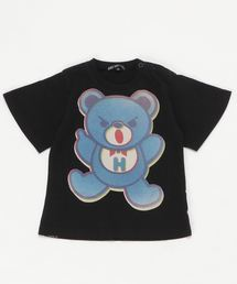 BEAR PRIMARY COLOR オーバーサイズTシャツ【XS/S/M】ブラック