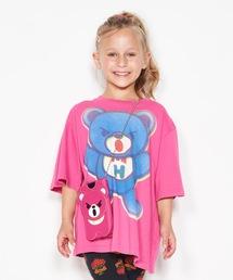 BEAR PRIMARY COLOR オーバーサイズTシャツ【XS/S/M】ピンク