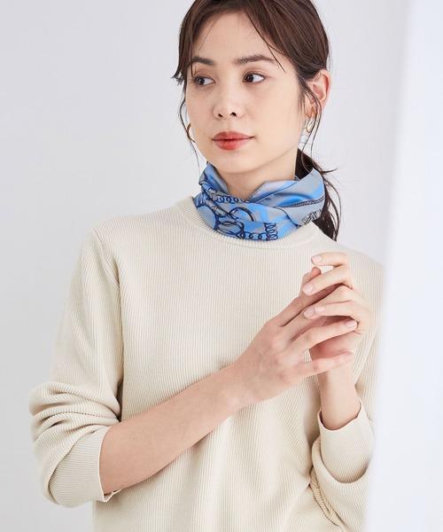 ROPE'(ロペ)の「【Marisol ONLINE掲載】シルクスカーフ(バンダナ/スカーフ)」|グレー