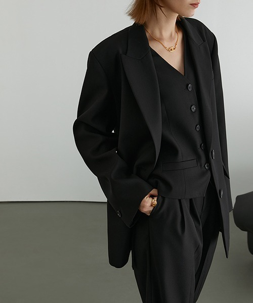 【Fano Studios】【2021SS】2-button tailored jacket & vest FD20W250