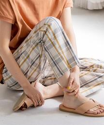 【男性にもオススメ・WEB限定サイズ】コットンリネンシェフパンツ#''CHEF PANTS''(イージーパンツ/バルーンパンツ/チェックパンツ/ストライプ)