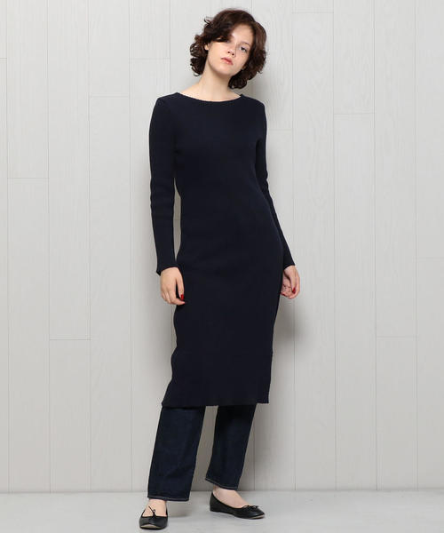 <H>COTTON CORD TERECO SLIT ONE PIECE/ワンピース