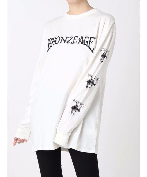 jouetie(ジュエティ)の「【コラボ】BRONZE AGE ロンT/ビックシルエットカットソー(Tシャツ/カットソー)」|オフホワイト
