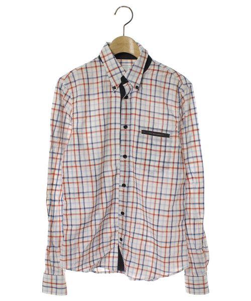 size 40 bc14f b737f チェック柄長袖シャツ