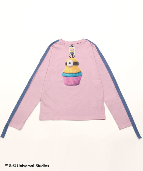 DING/MINIONS cupcakeロングTシャツ