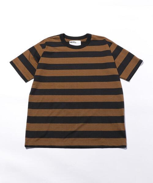<MHL.> WIDE STRIPE T/Tシャツ