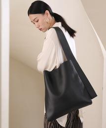 【chuclla】Wide shoulder tote bag cha188ブラック