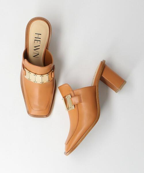 <HEWN>SQUARE LOAFER MULES/シューズ Ψ