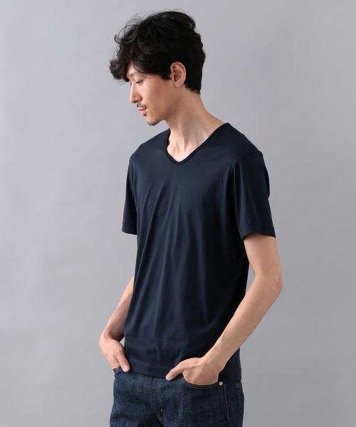 【2nd SKINシリーズ】スーピマコットン VネックTシャツ