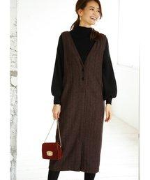 STYLE DELI(スタイルデリ)のヘリンボーン柄ジャンパースカート(スカート)