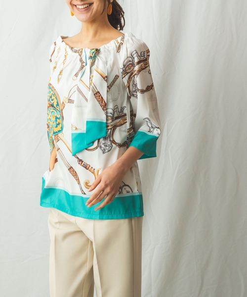 新作モデル 【セール】スカーフ柄オフショルダーブラウス(シャツ/ブラウス)|NARACAMICIE(ナラカミーチェ)のファッション通販, スカート屋服想くらぶ:855d551a --- 5613dcaibao.eu.org