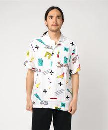 【STAPLE】オリジナルデザイン総柄半袖シャツ(シャツ/ブラウス)