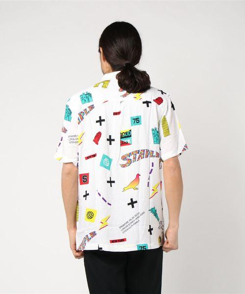 【STAPLE】オリジナルデザイン総柄半袖シャツ