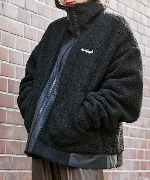 Mark Gonzales/マークゴンザレス BASQUE magenta別注 ビッグシルエット ボアブルゾン