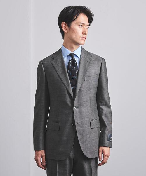 <UNITED ARROWS> LAS マイクロチェック 3B スーツ R-MODEL
