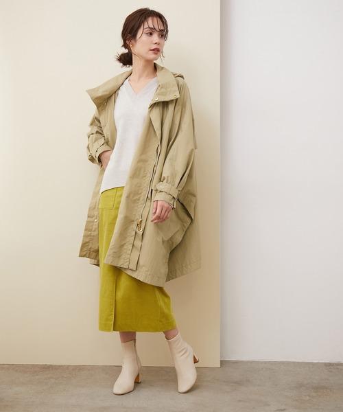 [ROPE'] コーディロイストレッチポケット付きタイトスカート