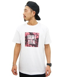 DOUBLE STEAL(ダブルスティール)のBOX FLOWER Tシャツ(Tシャツ/カットソー)