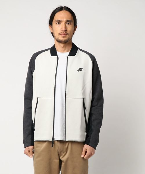NIKE AS M NSW TCH FLC VRSTY JKT (CARBON HEATHER/BLACK HEATHER/(BLACK))