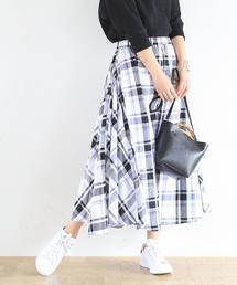 【19SS新作・Market】チェックマキシスカート