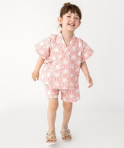 6254b015e93bd petit main(プティマイン)の麻の葉柄甚平(着物 浴衣)