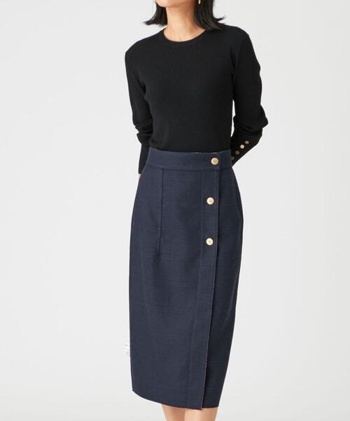 ◆FC TR/チェック リバーシブルタイトスカート