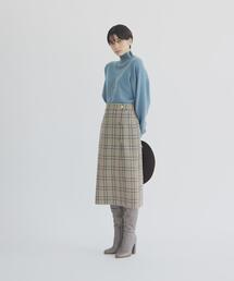 【EMMEL REFINES】◆FC TR/チェック リバーシブルタイトスカート
