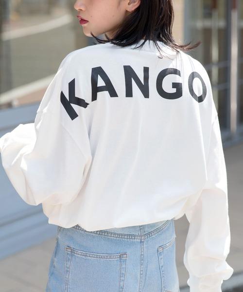 【BASQUE -enthusiastic design-】KANGOL カンゴール BASQUE magenta 別注 ビッグシルエット バックプリントロゴ長袖オーバーサイズカットソー
