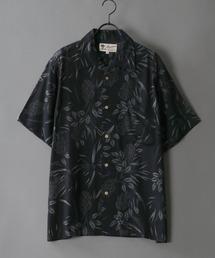 レーヨン 総柄 オープンカラー アロハシャツ