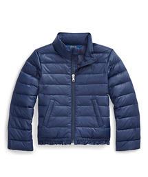 Polo Ralph Lauren Childrenswear(ポロラルフローレンチャイルドウェア)のラッフルド キルテッド ダウン ジャケット(ダウンジャケット/コート)