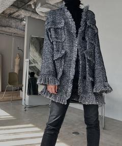 【chuclla】【2020/AW】Tweed oversize coat chw1378