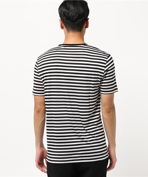 ブライトボーダー天竺V/N-Tシャツ