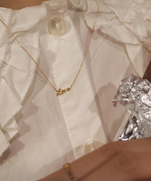 little emblem(リトルエンブレム)の「Loveネックレス(ネックレス)」|ゴールド