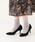 menue(メヌエ)の「美脚魅せ ポインテッドトゥ 8cmヒール パンプス(パンプス)」 ブラック
