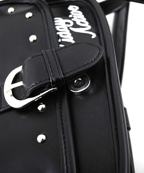ZIDDY/【ニコプチ掲載】【カタログ掲載】合皮丸スタッズ付きショルダーバッグ