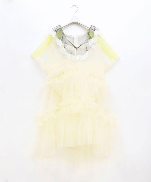 配送員設置 TULLE FRILL FRILL DRESS(ドレス)|FACETASM(ファセッタズム)のファッション通販, fu-chi インテリアふうち:9db18f4f --- heimat-trachtenbote.de