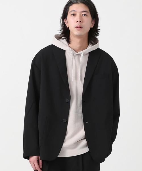 【WEB限定】COOLFIBER(R)ルーズシルエットテーラードジャケット(セットアップ対応)#